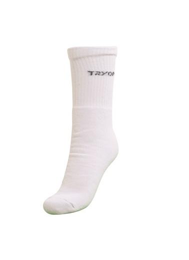 Tryon Tryon Kısa Havlu Çorap Beyaz